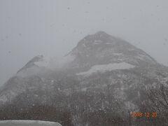 熊牧場から見えた昭和新山の様子です