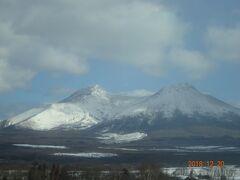 積雪の駒ケ岳です