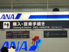 9月8日(木)、地元空港から出発です シドニー行きは羽田の夜便なので、地元出発は午後ゆっくり出かけます カウンターには柳井の金魚提灯がぶら下がっています