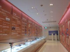 さて、せっかくなのでこのまま鹿児島空港の散策でも……。 空港にある博物館フロア、Sora stageです。  空港の歴史とか。