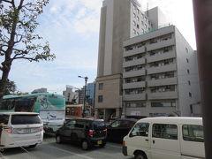 バス停からすぐのホテルJALシティ松山(現ホテルマイステイズ松山)。 この日の宿です。