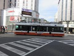 伊予鉄市内線の大街道停留所の近くに出ました。  (つづく)