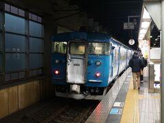 金沢駅に到着。 ここからはJRではなく、IRいしかわ鉄道。 なかなか味のある車両。