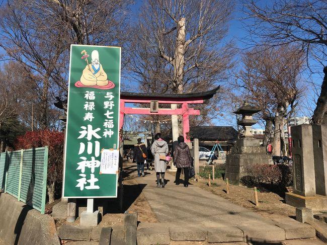 最後の氷川神社へは、20分ほど歩きました。<br /><br />あまり広くない道を車も人も自転車もというわけで、歩きづらい道です。