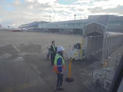 仙台空港到着 雨・雪の影響受けないように ターミナルビルに到達できます。 *天候 晴れ 気温 六度