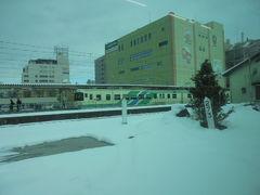 福島駅 雪景色