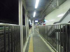 黒磯駅 乗り換えは 4番線から1番線へ 乗り換えのこ線橋幅狭いです。