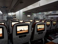 ●TG622便@スワンナプーム国際空港  バンコクでさっと乗り継いで、関空行に搭乗。 この頃から、もう眠気が襲っていました。 今で、22:46。