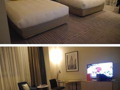 ホテルに到着です 2月にも宿泊した「ラディソンブル・プラザホテル」 今回も朝食付です、前回泊まってお気に入りのホテルです シドニーは物価が高いので朝食付は嬉しいです ツインベッドの広い部屋で、寛げそうです