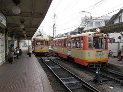 終点、道後温泉駅に到着。