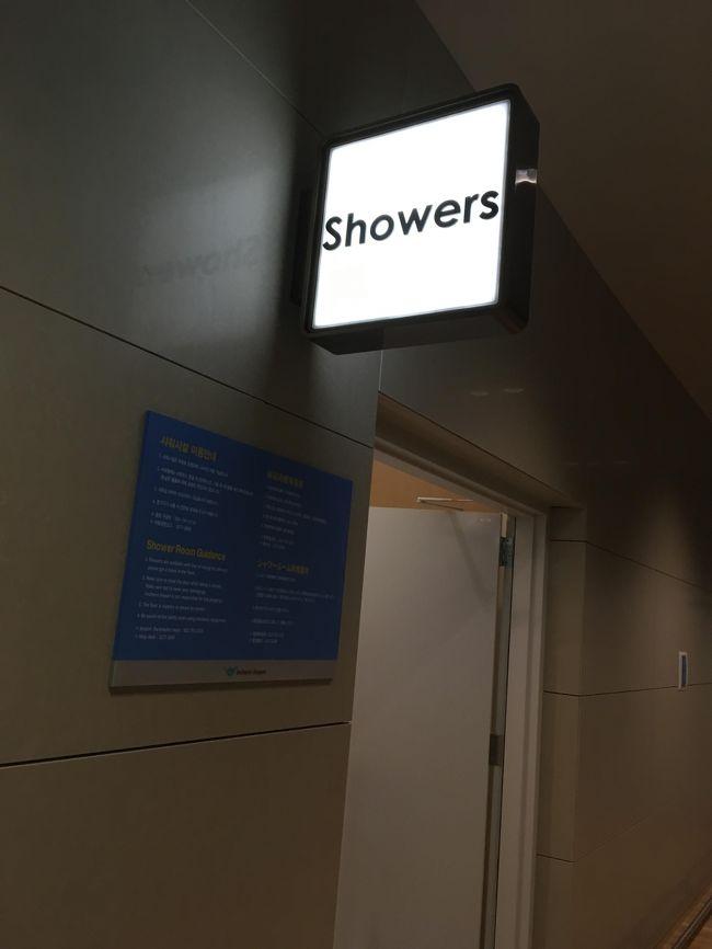 トランジットエリアには、シャワールームもある。<br />明日、シャワーが浴びれない私は、ここでシャワーを浴びておくことにした。<br />だってトランジットの時間は4時間もあるから。<br />仁川空港のシャワールームはバスタオル、シャンプーボディソープ付きで無料。<br />このような点は、日本、本当に負けていると思う。