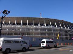 工事中の新国立競技場を見に行ってみました。