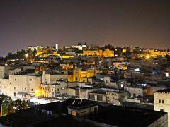 部屋を出た私達が向かったのはリアドの屋上テラス。  テラスからは丘上に連なるフェズの美しい夜景が見えていた。