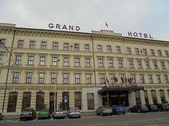 12:55、グランドホテルに到着。