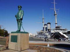 日露戦争、日本海海戦での武勲艦ということで、 荘厳な大変、勇ましい艦(フネ)です。  世界三大提督、東郷平八郎元帥の銅像も鎮座しています。