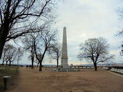 Denisovy sady  聖ペテロパウロ教会を取り囲んでいる公園に出てきました。 オベリスクも。