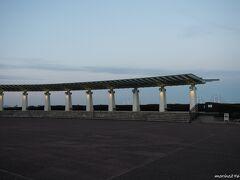港の見える丘公園 展望台 16:55頃  日没のゴールデンタイムです。