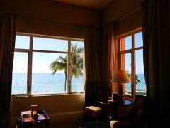 時間が無くなり、慌ててホテルに帰って荷造り。 あーこの部屋ともお別れか。 焼き付けておかないと、この窓。