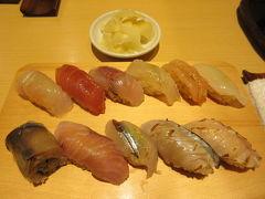 歴歴近江町店で亀鮨11缶を頂く