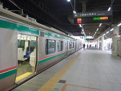 仙台駅からは東北本線小牛田行きの電車に乗りました。