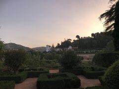 パラドール・グラナダの朝。 テラスに出るとフェネラリフェが見えます。