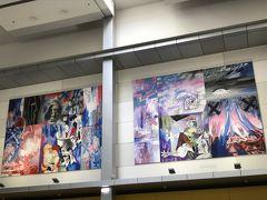 マラガはピカソの生誕地ということで、駅前にはピカソの複製画がありました。
