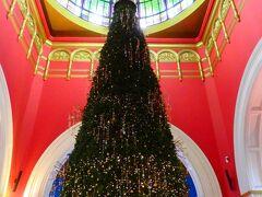 やっぱりクイーンビクトリアビルディングにも寄ってしまいました。 クリスマスツリーが美しい・・・・  いったんホテルに戻り、プール脇のジャグジーでのんびりしてから、夕食に。