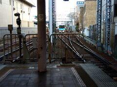 坂本比叡山口駅から再び京阪電車に乗り、びわ湖浜大津駅に来ました。 雲が出てきたことからかなり肌寒くなり、早めに帰宅しようかと。 ここで京都方面へ向かう京津線に乗り換えます。