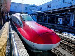 秋田駅に到着し外の空気を吸って乗り物酔いが少し落ち着いてから冷静になり「写真!写真~!」と撮り鉄さんバリに前までいそいそと行きお顔をパシャリ。