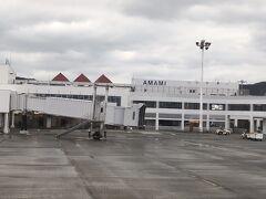 30分後の15:25に奄美空港に到着です。  なかなか大きな空港。