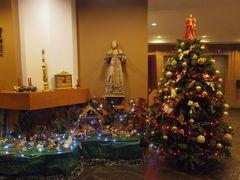 ホテルはホセ・アントニオ・クスコ 4☆ ロビーにはクリスマス飾りがありました。