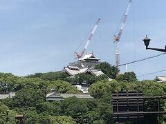 6/2 熊本最終日に熊本城に寄り道。熊本城は今、再建中。工事がすすんでいます。