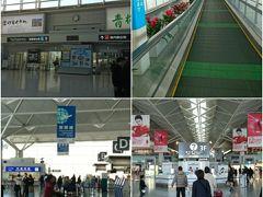国際線も国内線も同じ階にチェックインカウンター、保安検査所があります。  空港配送しておいたスーツケースを受け取って、チェックイン。 @手荷物サービスセンター 中部国際空港 出発ロビー(3F)の国際線チェックインカウンターBの前にあります。(提携のヤマト運輸カウンターで対応)