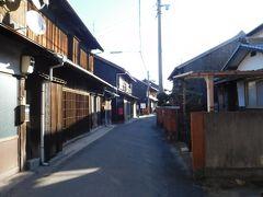 古い町並み、しおまち唐琴通り。 空き家もそれなりにあった。