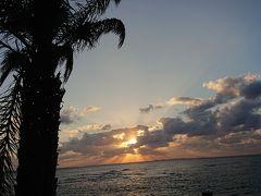 アメリカンビレッジ側のサンセットビーチ 間に合って良かった~ カップルがいっぱいでした。