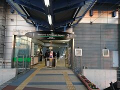 宮崎空港駅に到着 さっぱりした改札(笑)