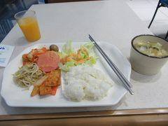 AM7時半 ホテルで朝食。