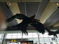 ホテルをチェックアウトして車でウエリントン国際空港へ。車はここで返却です。ところで、この空港はわざわざ訪れたい世界の空港3に選ばれており、大鷲に乗ったランドルフが旅行者を迎えてくれます。