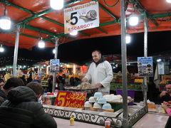 20:00 フナ広場の14番屋台で白身魚のフライの夕食