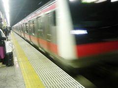 あと少し 見たかったなー 急いで舞浜へ 快速電車に間に合いました