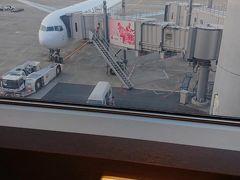 旅はここから。 今日は7:30の飛行機なのでビールはやめておき、大人しくコーヒーにしました。