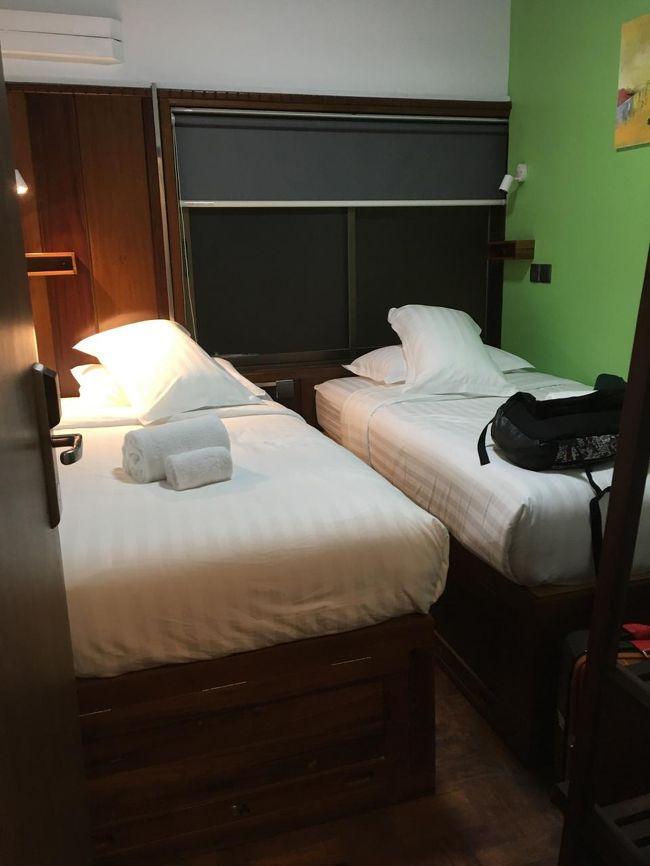 落ち着いたら、ちょっと眠くなってきた。<br />だって夜行列車の中2時間も寝ていないもん。<br /><br />あれは失敗だったな。<br /><br />マンダレーの宿はツインの部屋しか空いていなかったとのことで、ご厚意でこちらの部屋になった。シングルの部屋を予約したのにラッキーだ。<br />一人だったらこの広さで十分。<br />ではしばし休みましょう。<br /><br />おやすみなさい。<br />