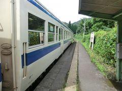 14:40 表木山に到着。 ここで列車交換の為、10分ほど停車します。