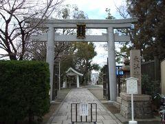 愛染堂勝鬘院のすぐ横に大江神社があります。