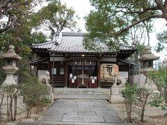 本殿です。 真田幸村がこの神社境内で戦死したと伝えられています。