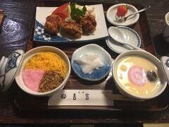 吉宗の茶碗蒸し! 木曜日はたまたま、ランチ定食でした。 美味でした。食べるところも、とても落ち着きました。