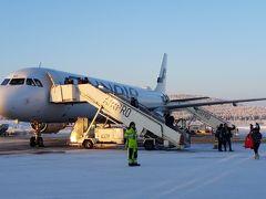 イバロ空港からヘルシンキへ移動。