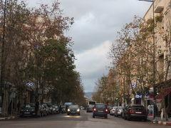 フェズの街(18:30) 途中、雪に遭遇して心配しましたが、無事にフェズに到着しました。新市街はフランス風の街路樹の美しい街です。