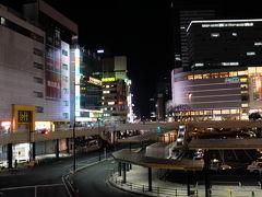 夕食後、夜の仙台駅周辺を歩きながら宿泊先へ