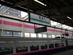 東北新幹線に乗って福島へ 宮城もそうですが、福島市も雪は全然降ってないですね